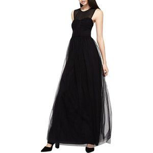 BCBGeneration Ruched Tulle Maxi Dress